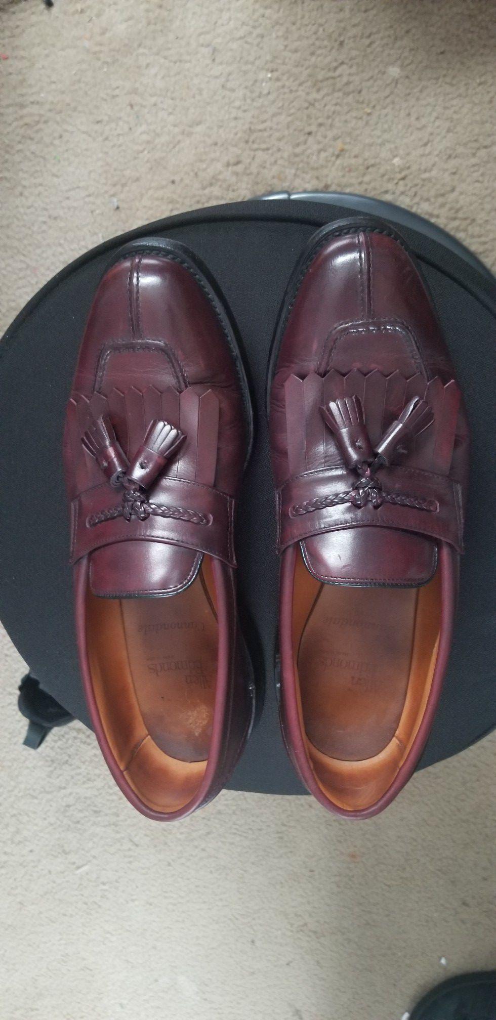 Allen Edmonds Cannondale Men Merlot Split Toe Tassel Kiltie Loafers 10D