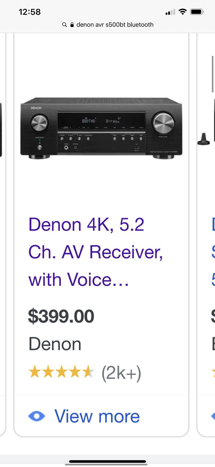 Denon Surround sound receiver and Bose speakers