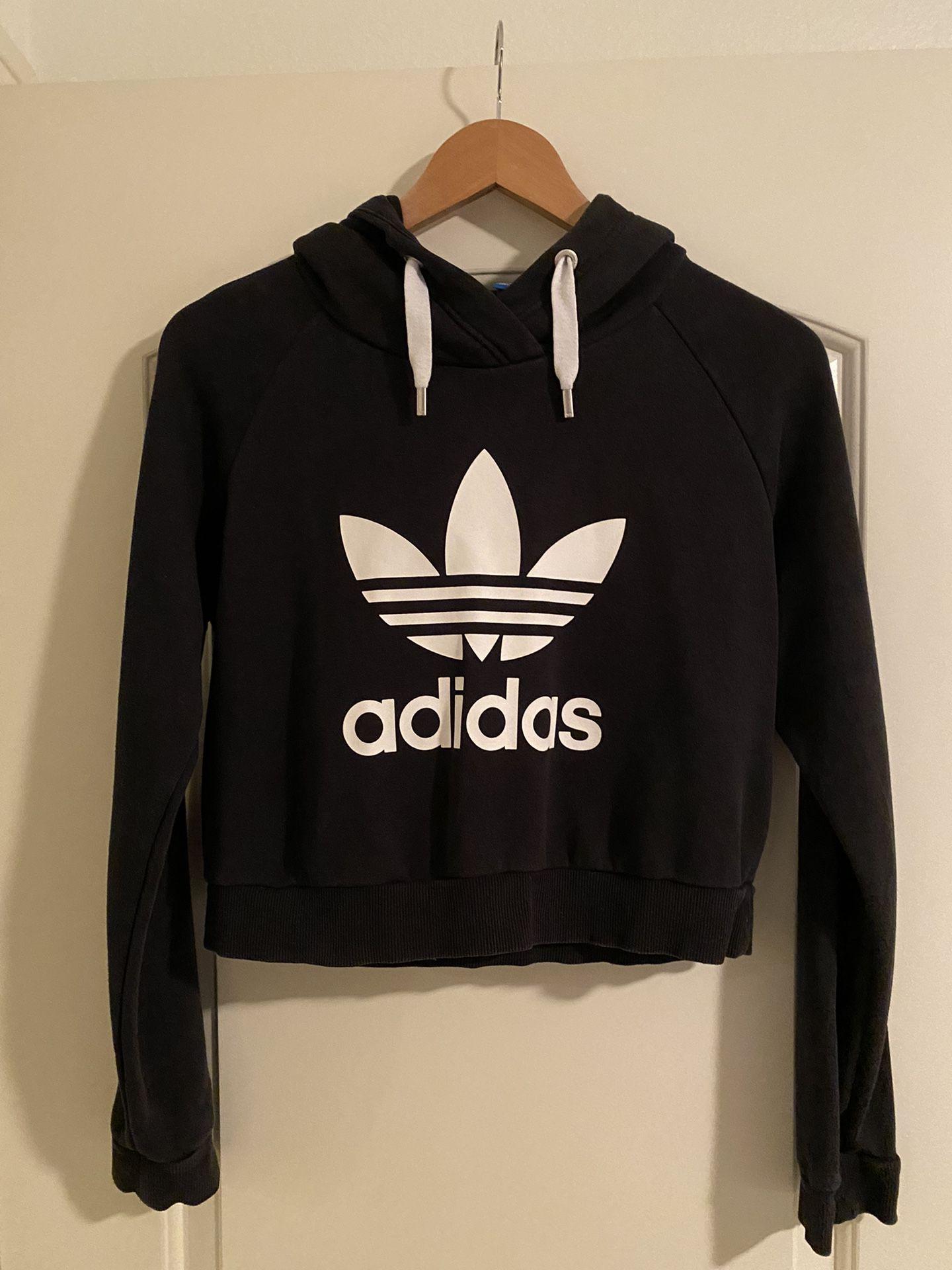 Cropped Adidas Black Sweatshirt / Hoodie