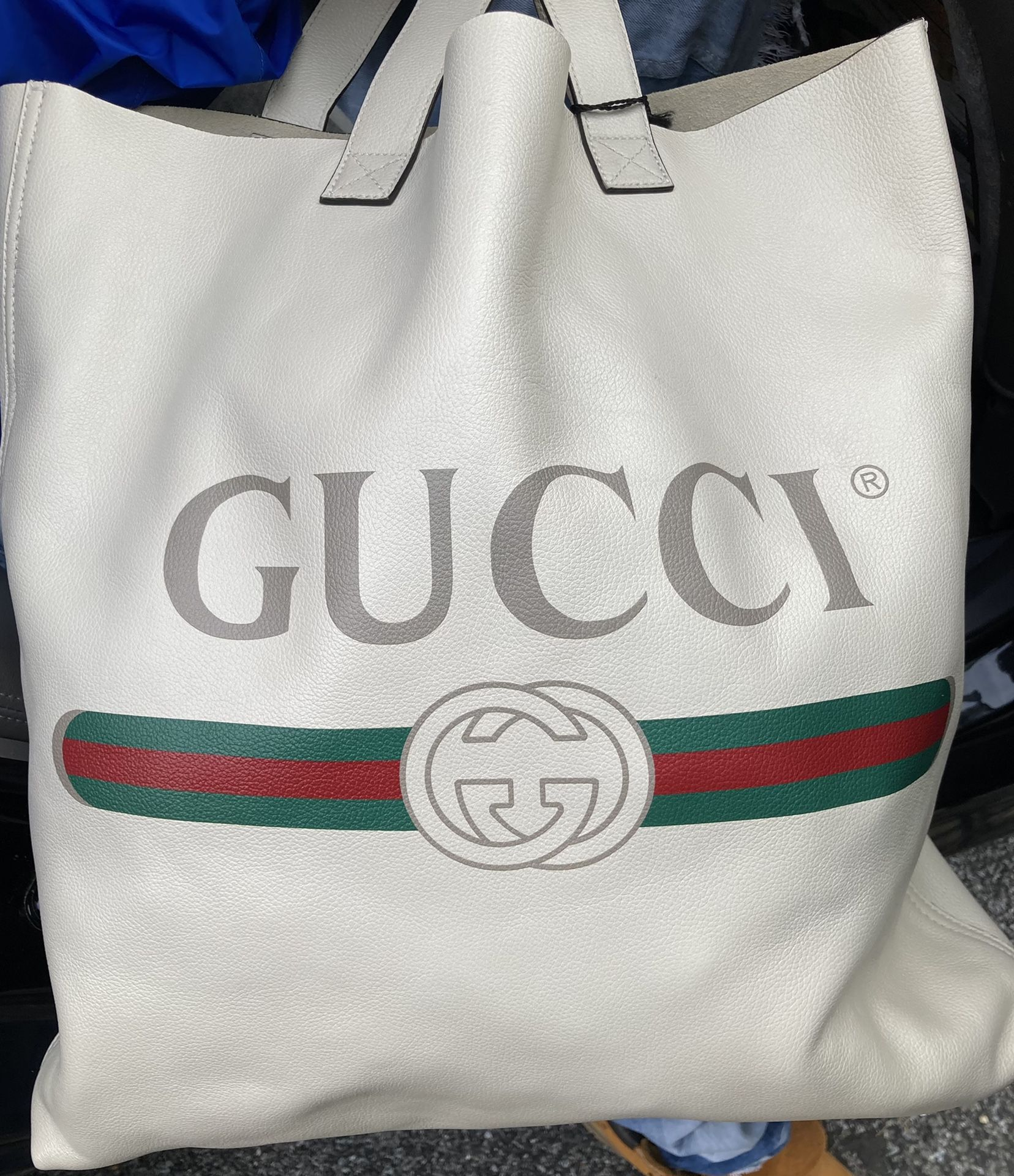 Gucci logo tote bag