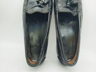 Cole Haan Men's Black Tassel Loafers Dress Shoes Slip On Oxfords Size 11.5 C Thumbnail