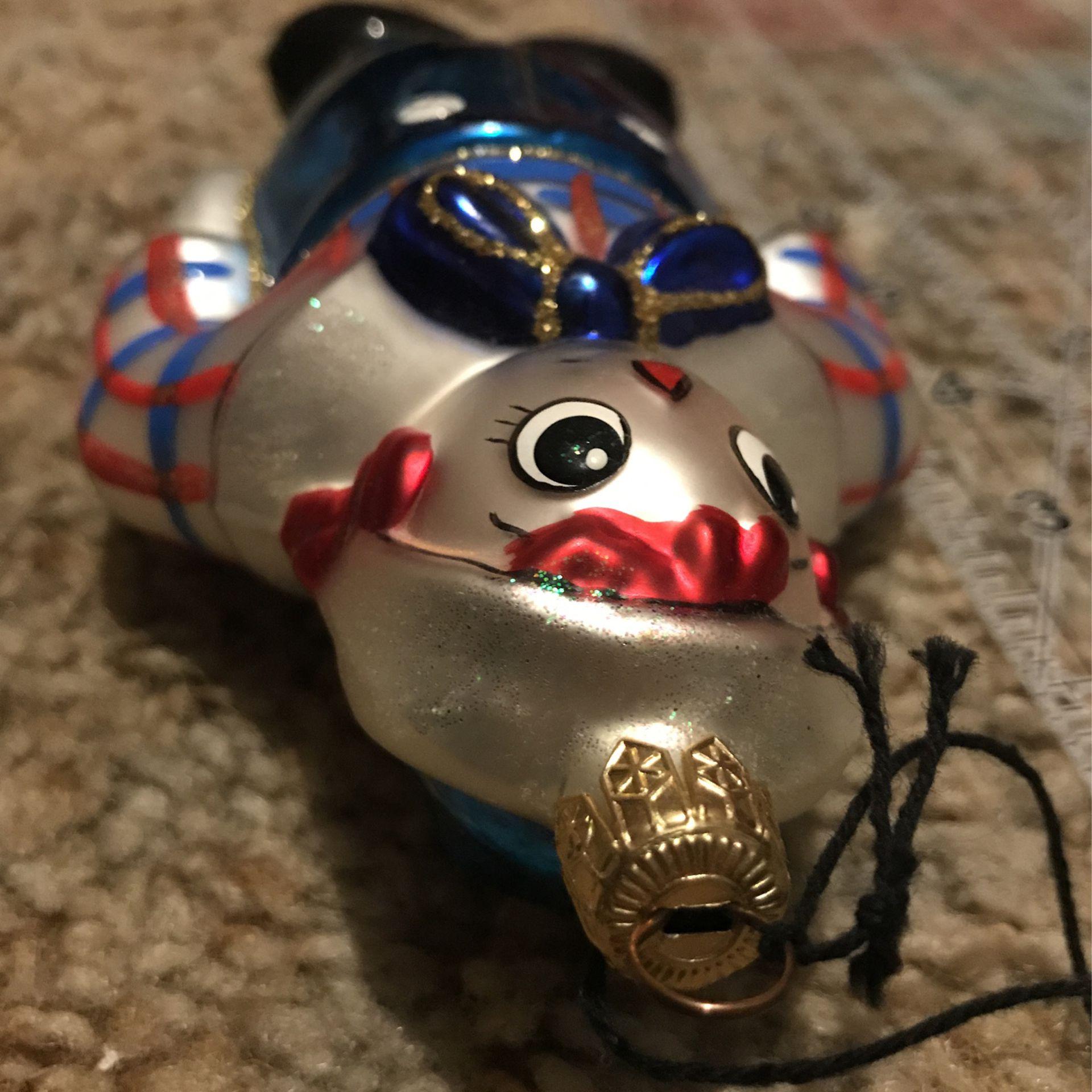 Kurt S. Alder's Raggedy Andy Glass Handmade Ornament
