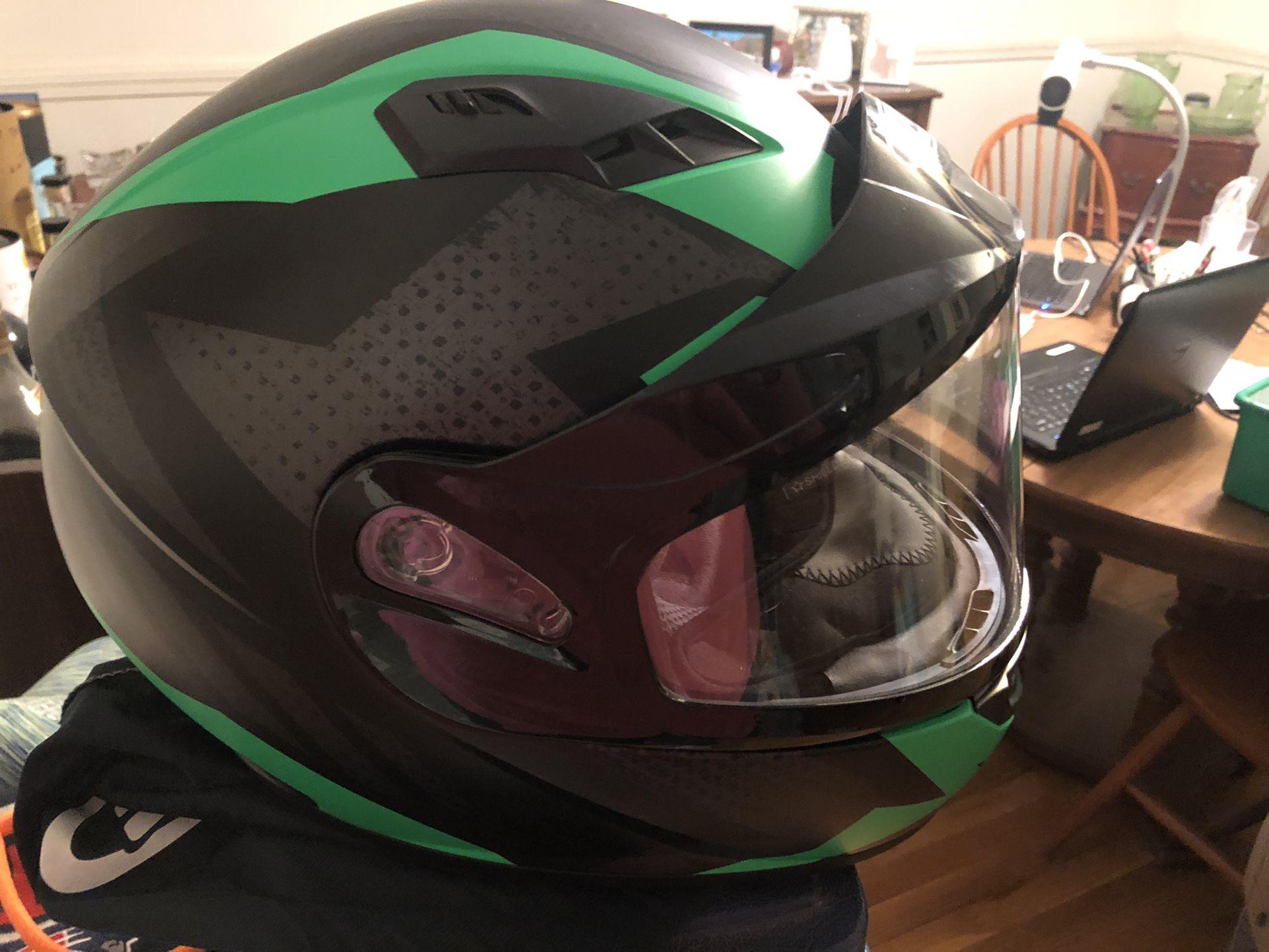 Size medium Snowmobile Helmet and kids size 10 Pants .