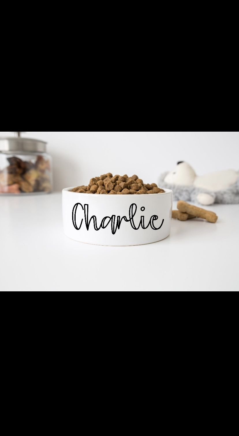 """Personalized Dog/Cat Bowls With Name 6"""" Or 7"""""""