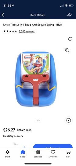 Little Tikes 2-In-1 Snug And Secure Swing  Thumbnail
