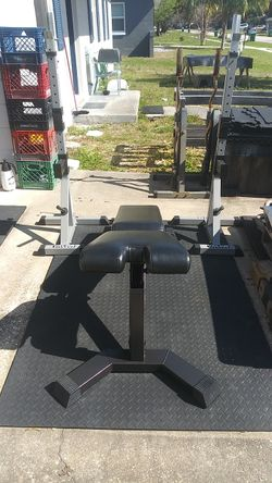Squat Rack Bench Press Combo With Commercial Nautilus Weight Bench $700 Gets It Thumbnail