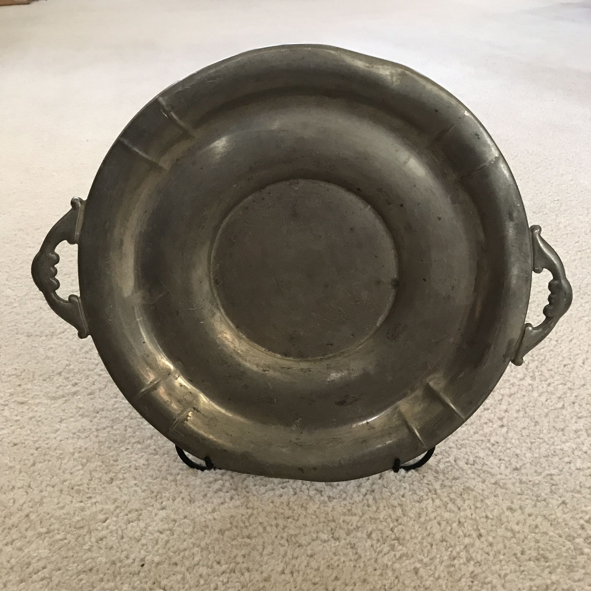 Vintage Plymouth Pewter Plate Serving Dish 83912
