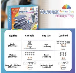 Rainbow Craft 18-PACK Vacuum Storage Bags for Clothes - Space Saver Bags Vacuum Storage Bags Jumbo for Comforters and Blankets - Storage Bags Vacuum S Thumbnail
