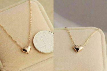 Fashion Women Gold Plated Heart Bib Statement Chain Pendant Necklace Jewelry Thumbnail
