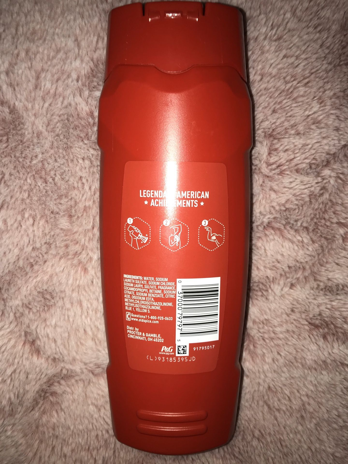 men axe and old spice body wash