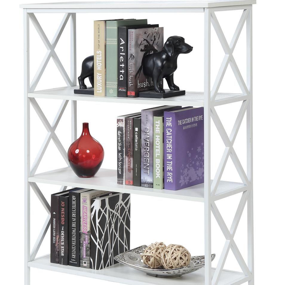 Tucson 4 Tier Bookcase, White