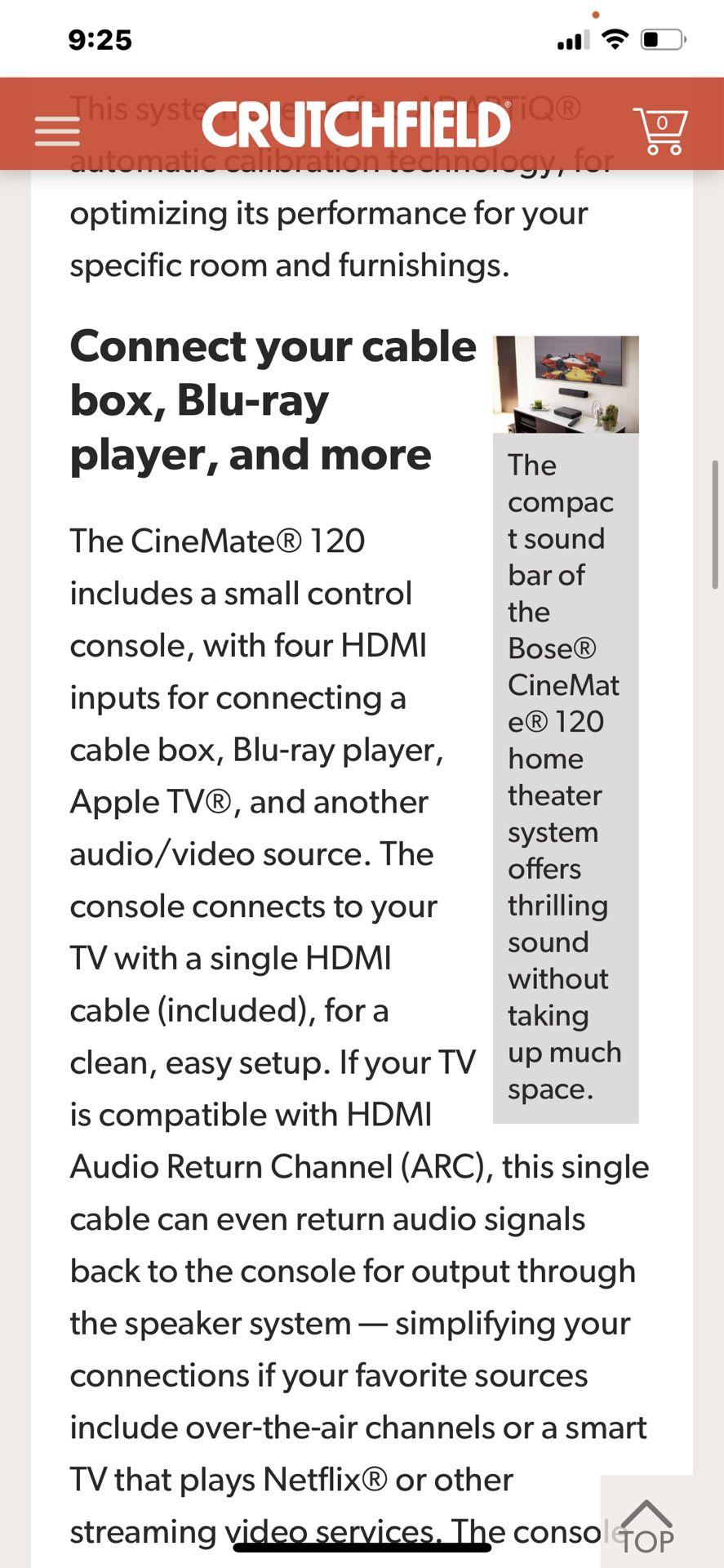 Bose Cinemate 120