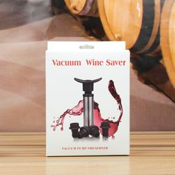 Red Wine Vacuum Saver With 4 Bottle Sealer Red wine pump Thumbnail