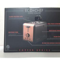 ECO+CHEF COPPER SERIES COPPER 2-SLICE TOASTER Model EC-CET Thumbnail