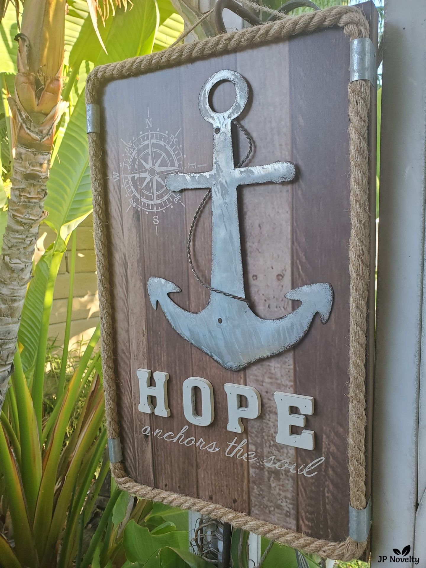 NEW-Large Metal Anchors The Soul - Wall Decor