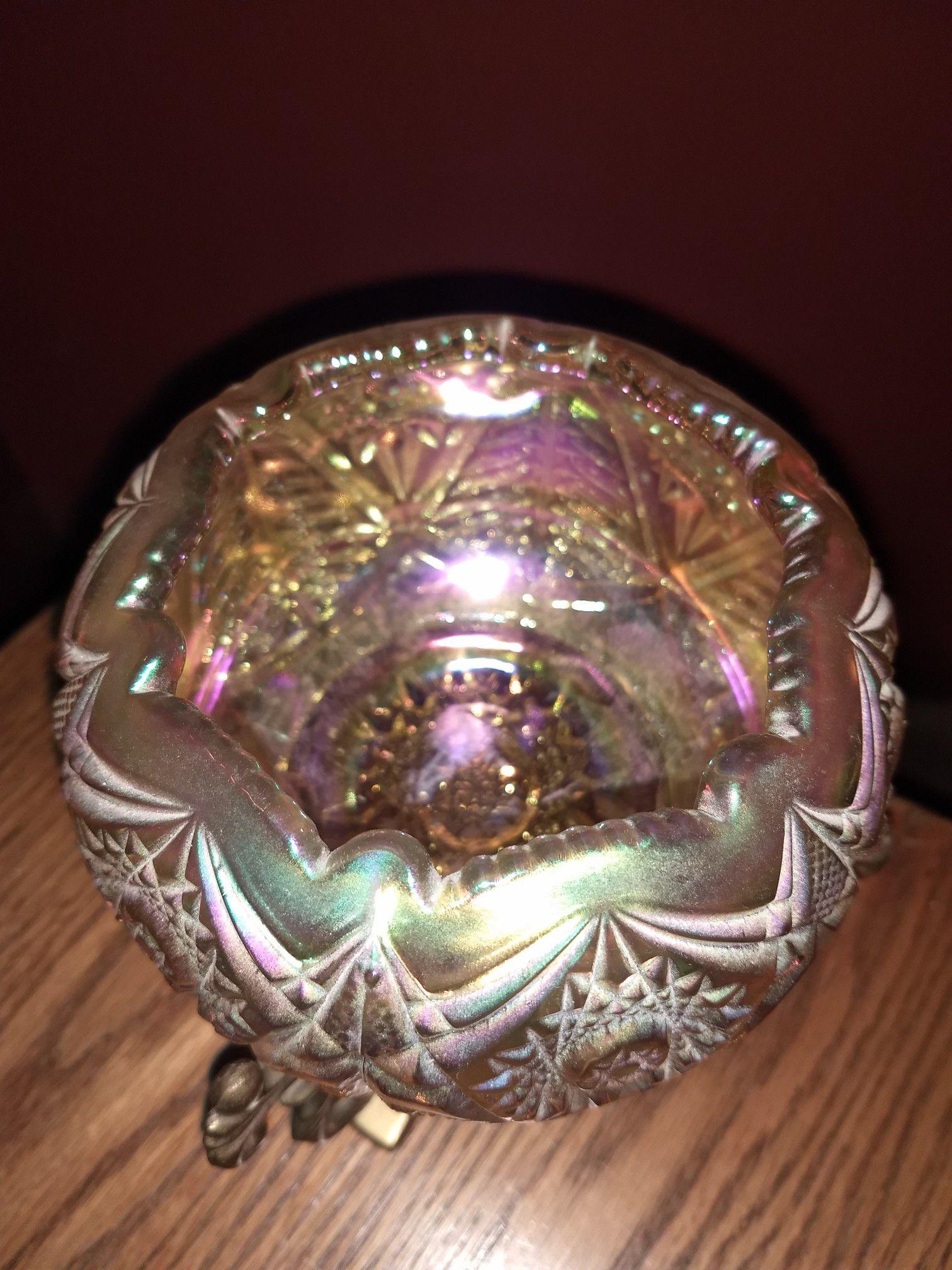 Candle holder Fenton glass