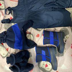 Toddler winter snow suit / snow boots Thumbnail