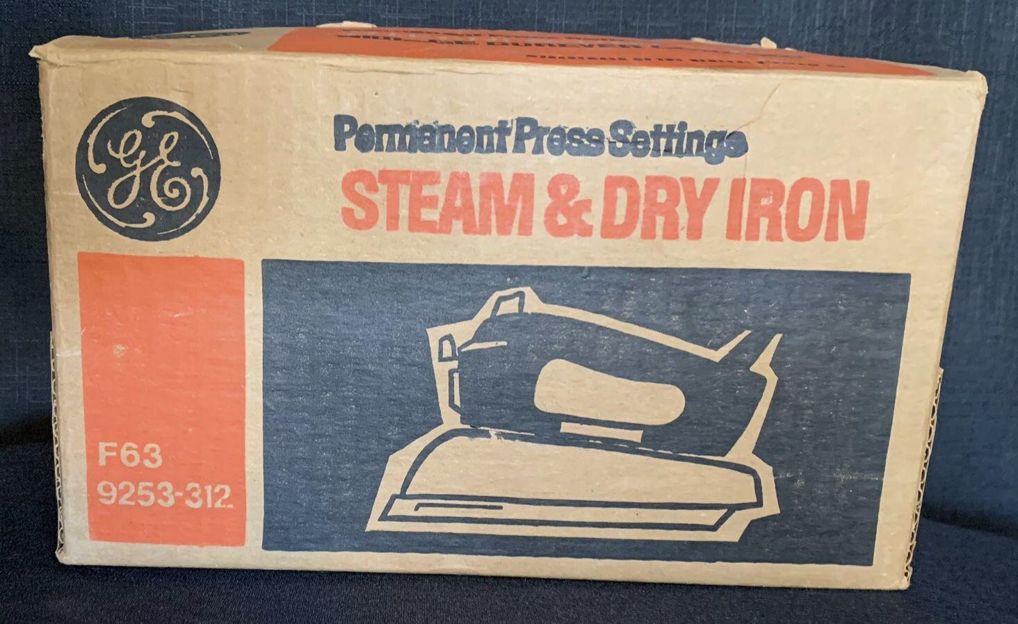 Vintage GE Permanent Press Steam & Dry Iron.
