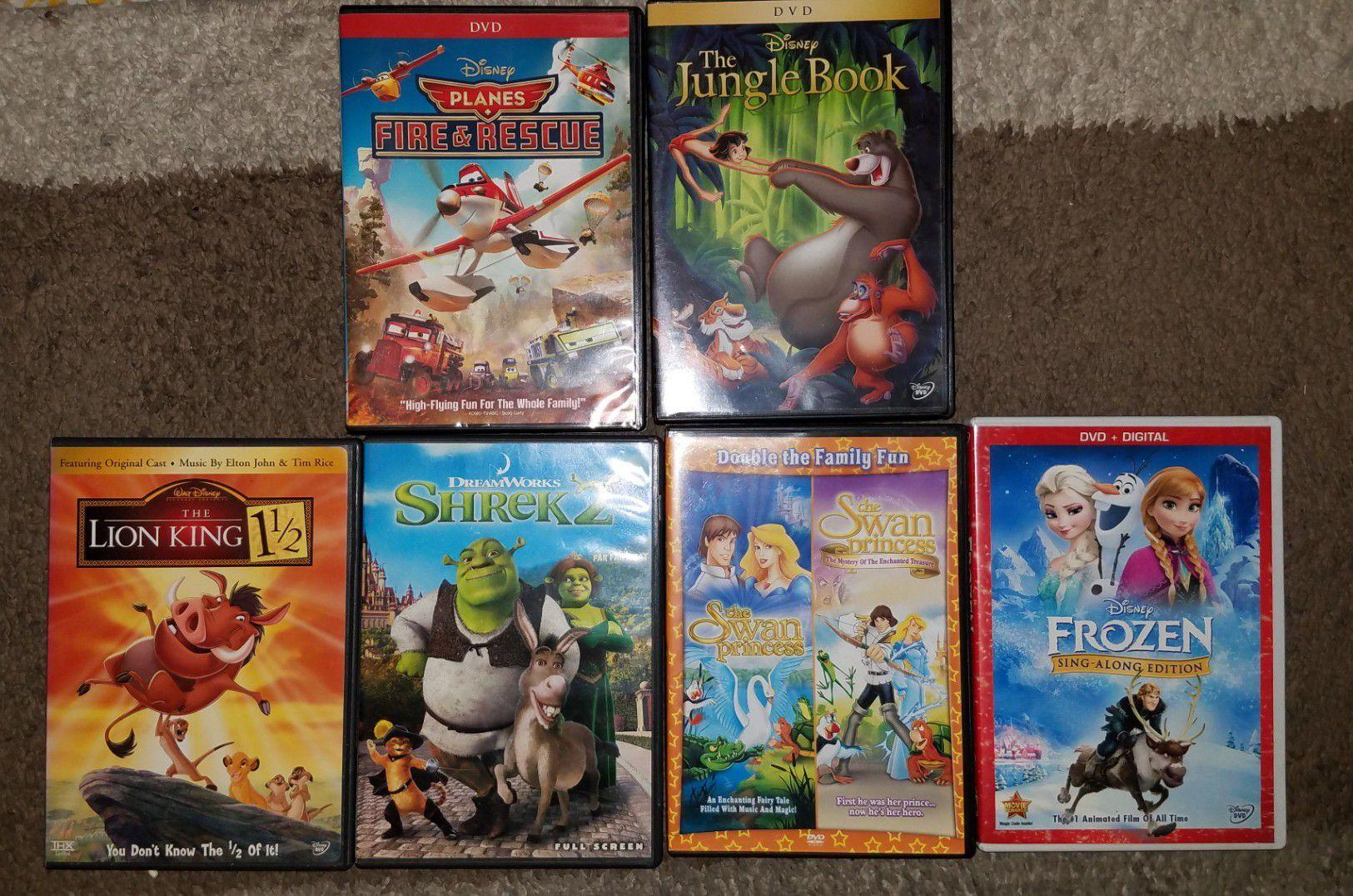 Children's animated dvd's