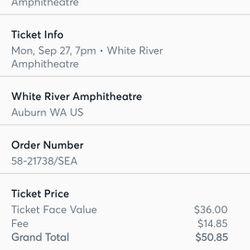 4 Tickets To Alanis Morissette Concert  Thumbnail