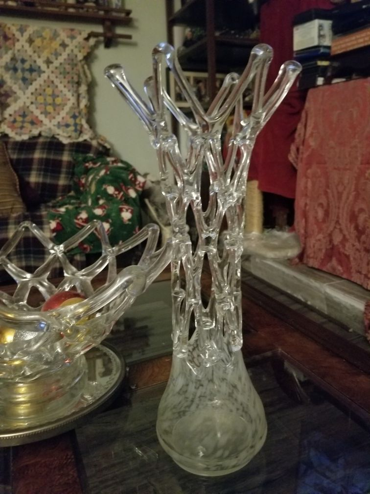 """17"""" tall Romanian Icicle vase"""