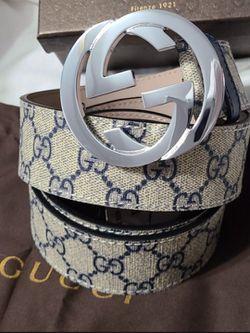 🔥Authentic Gucci Belt Blue Supreme Monogram  GG Thumbnail
