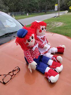 raggedy ann & andy Sining Dolls sining i got you babe by sonny & cher Thumbnail