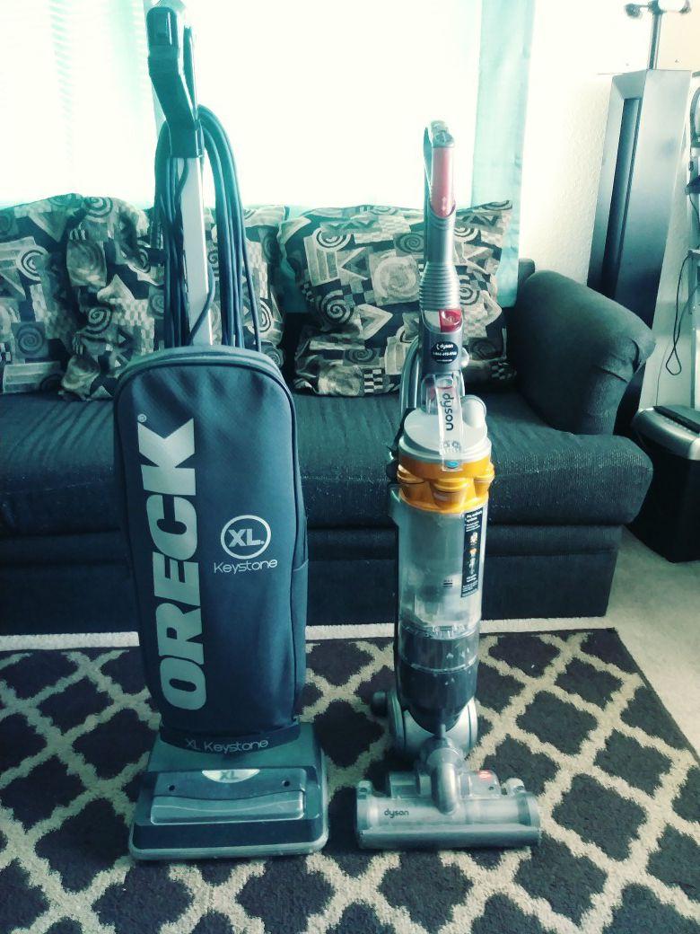 ORECK vacuum...good condition...DYSON vacuum good condition