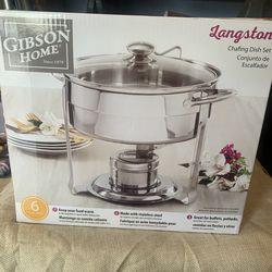 4.5qt Chafing Dish Set - Gibson Home- Brand New Thumbnail