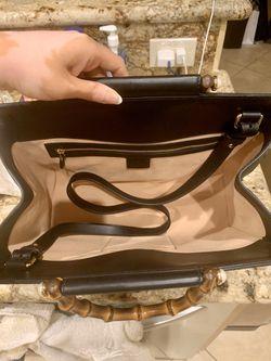 Brand New Gucci Nymphaea Medium Top Handle Bag In Black Thumbnail