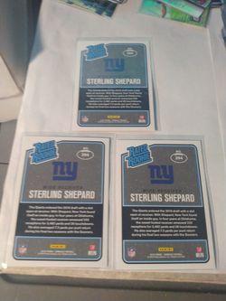 2016 Donruss Sterling Shepard Press Proof Rookie Football Card Lot Of 3 New York Giants Thumbnail