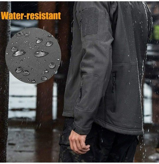 New Men's Free Soldier Waterproof Soft She'll Hooded Tactical Jacket
