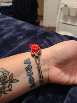 Rose Bracelet Rainbow Loom Thumbnail