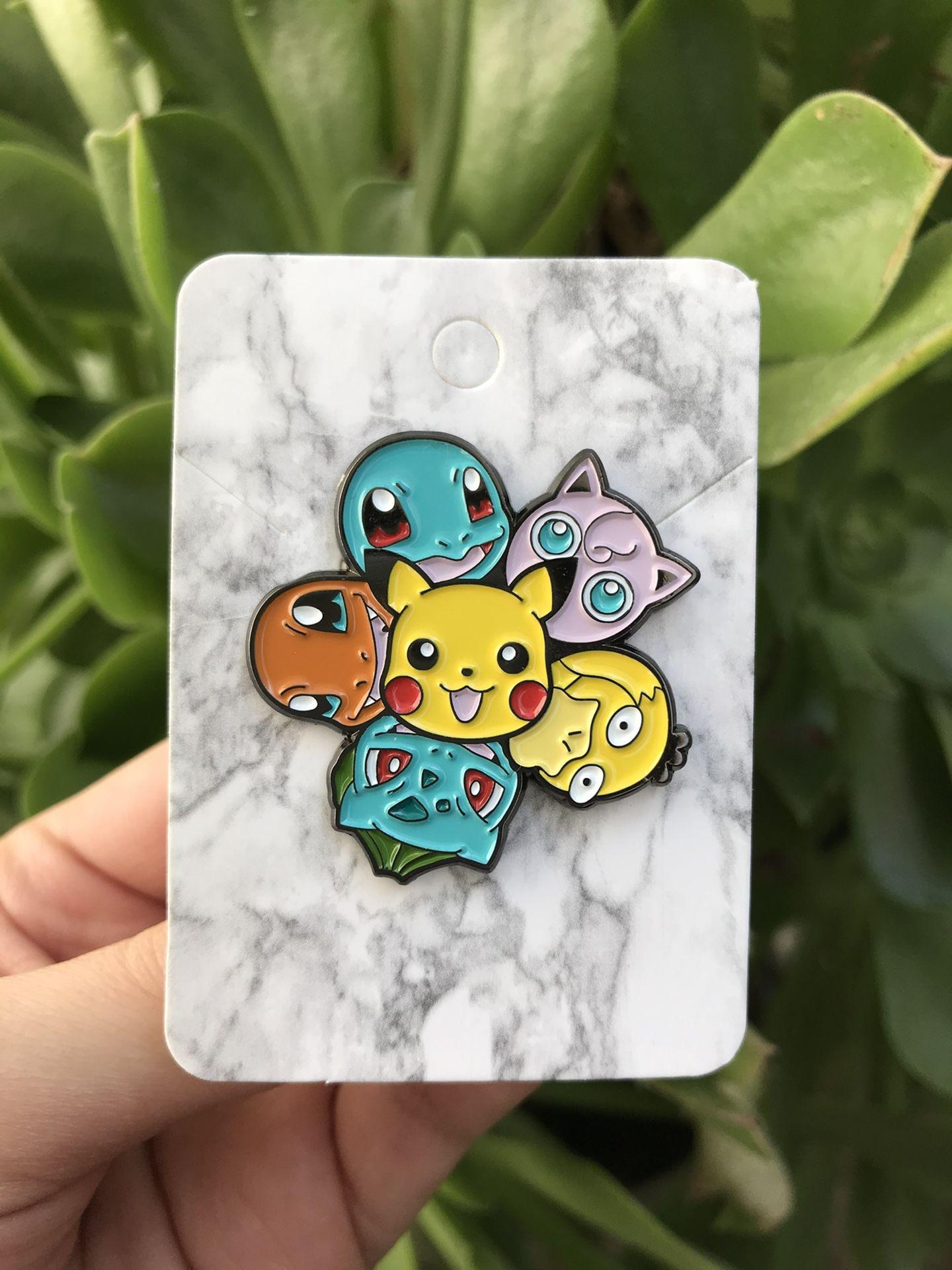 Pikachu X Bulbasaur X Charmander X Psyduck X Squirtle X Jiggleypuff Pokemon Pin