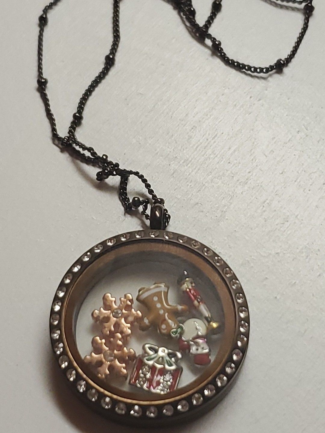 Orgami owl living locket necklace and charms