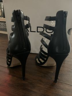 Black And Clear Aldo Heels Thumbnail