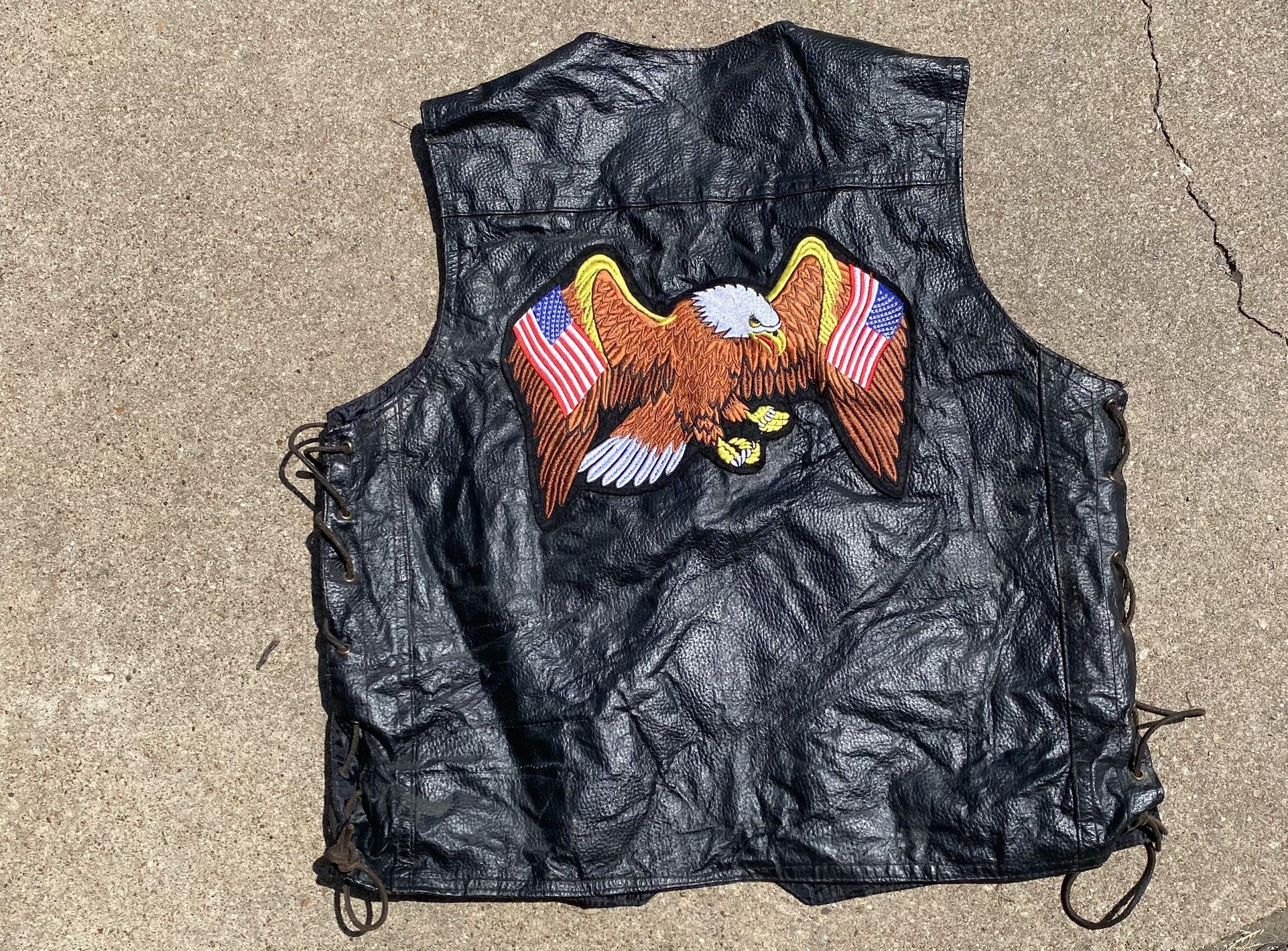 Harley Davidson Leather Vest Men's XL
