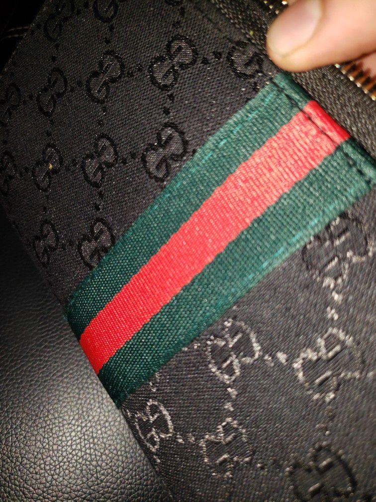 Gucci Supreme Wallet Black Green Red