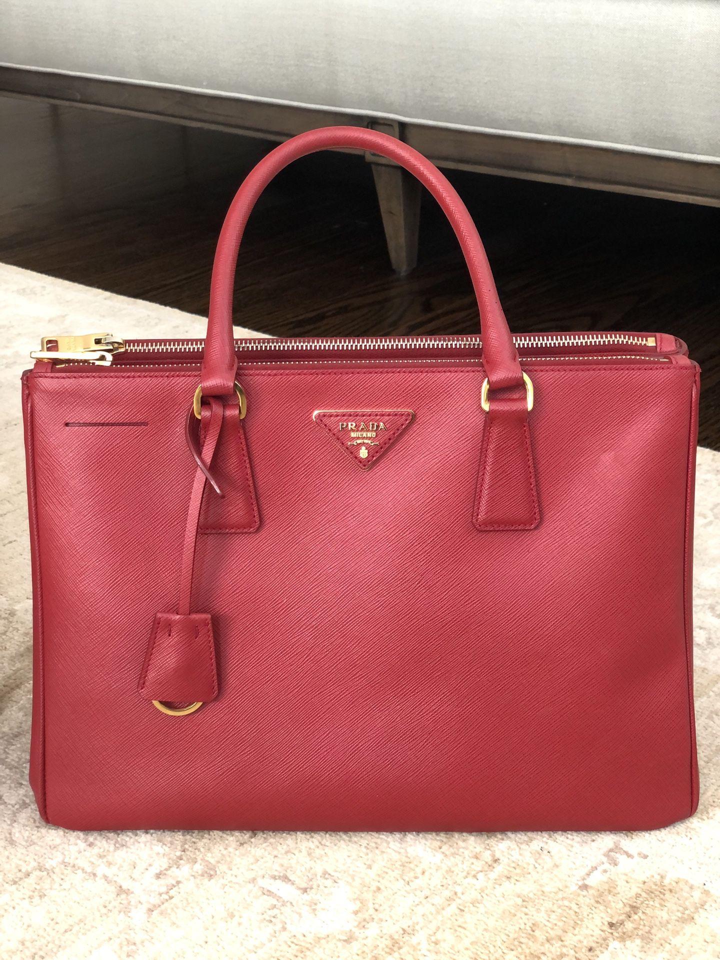 Medium Saffiano Leather Prada Galleria Bag