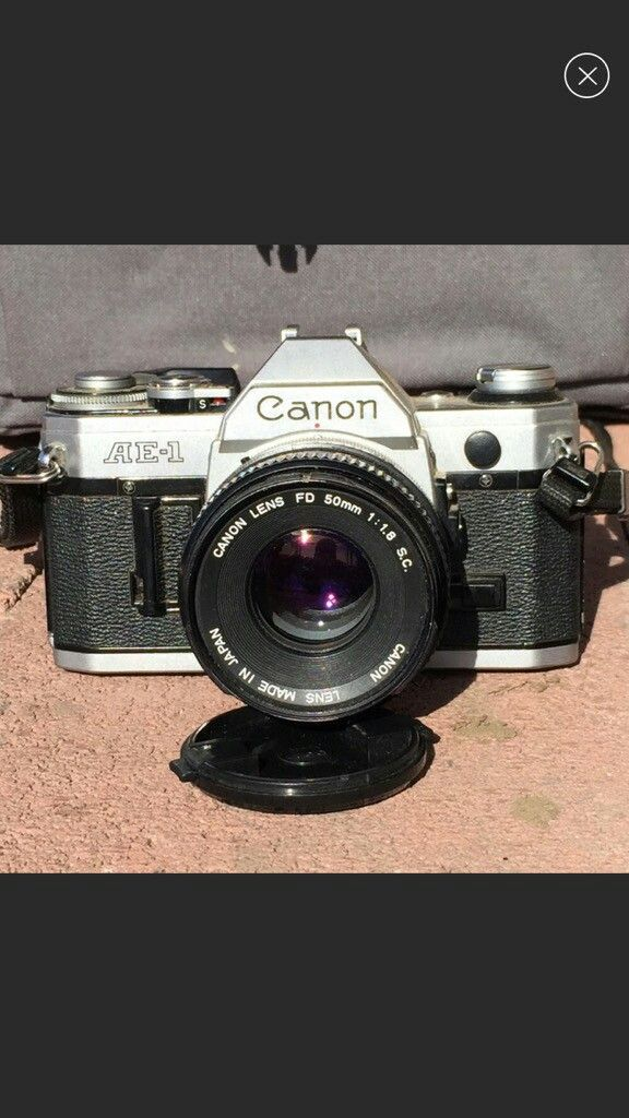 Canon ae-1 chrome slr body