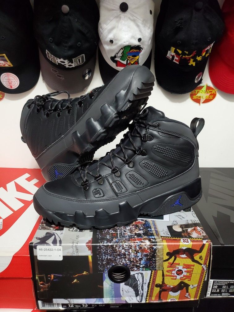 Air Jordan 9 Boot NRG 'Blk Concord' *Sz 12 USED*