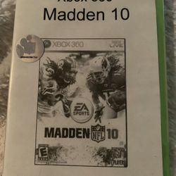 """Madden NFL 10 (Microsoft Xbox 360, 2009). Condition is """"Very Good"""". Shipped with USPS First Class. Thumbnail"""