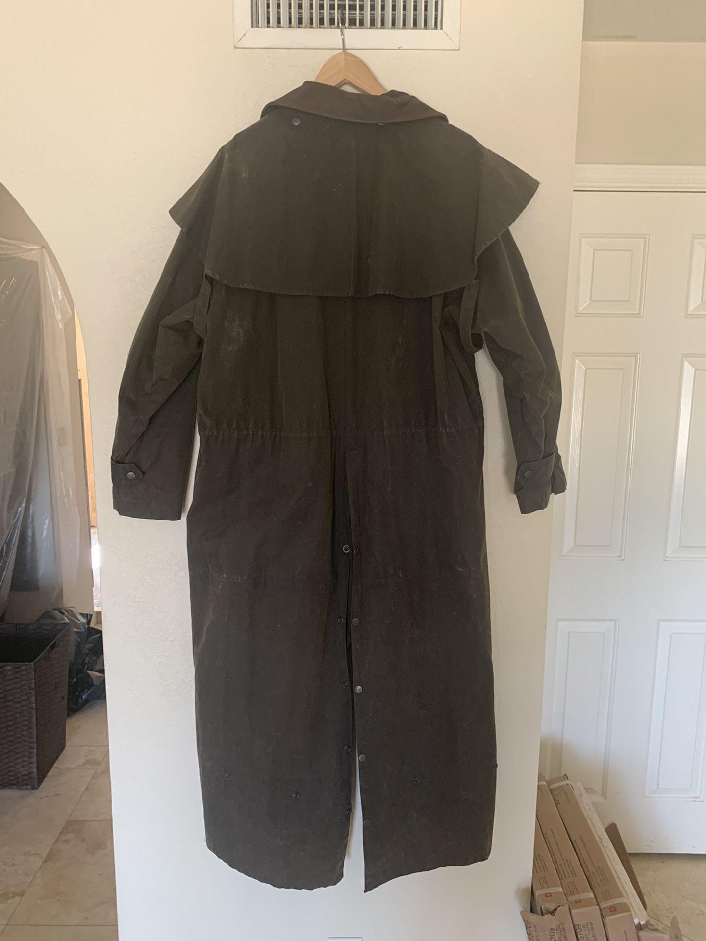Kakadu Traders Oilskin Drovers Duster Coat XL