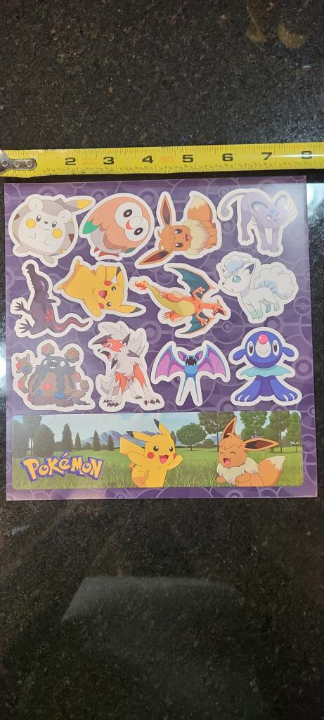 13-Pokémon Stickers