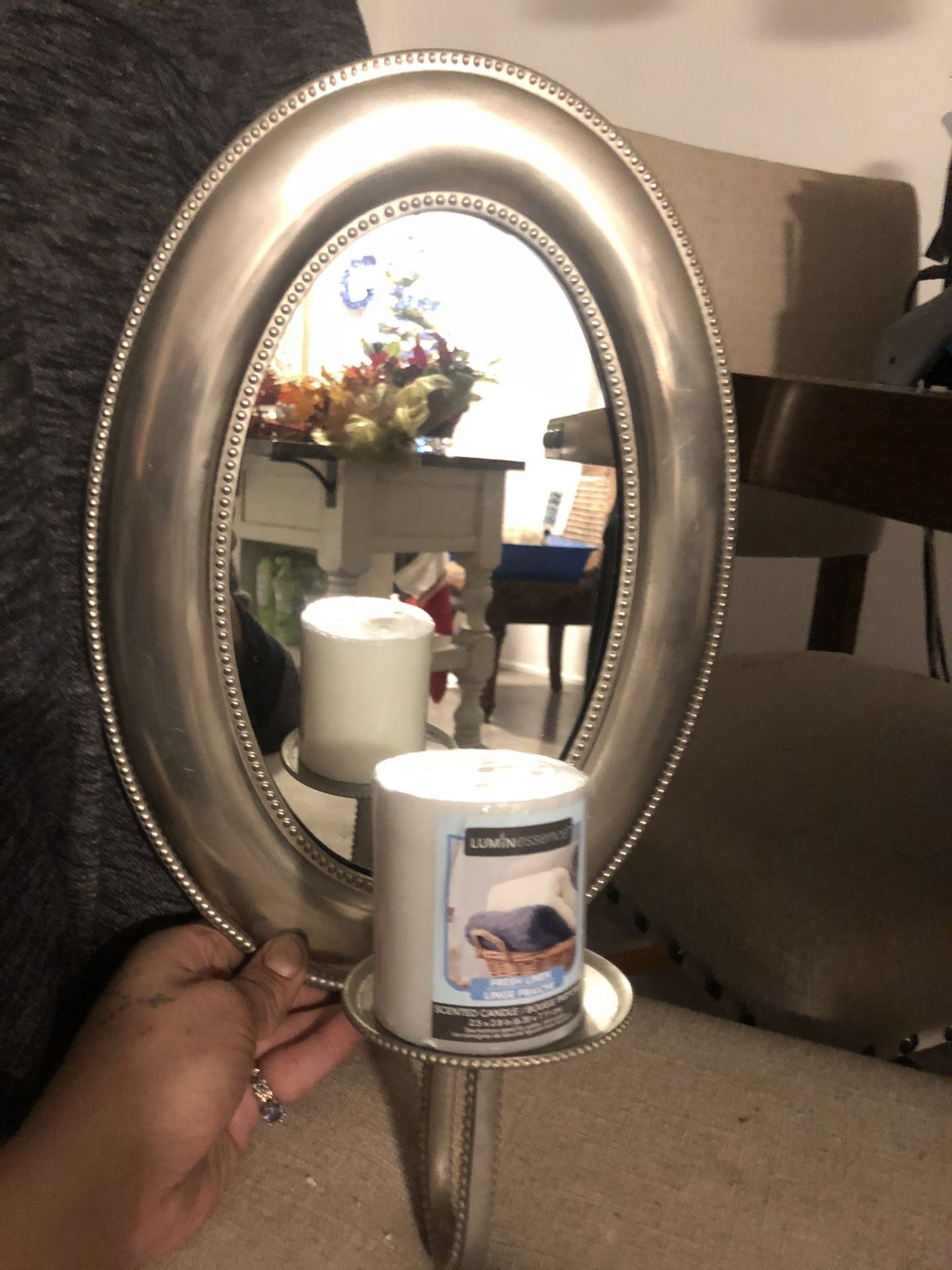 Wall Mirror  With Candle 🕯 Holder