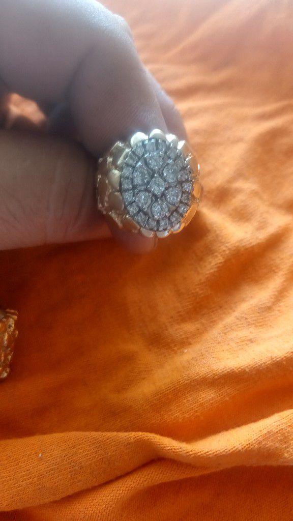 14 Kilates  Con Diamante's  14 Gramos