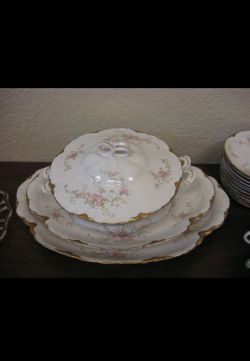 Antique Warwick fine bone china Thumbnail