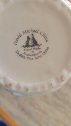 New Michael David China By Staffordshire Fine Bone China Small Pitcher CREAMER  Thumbnail