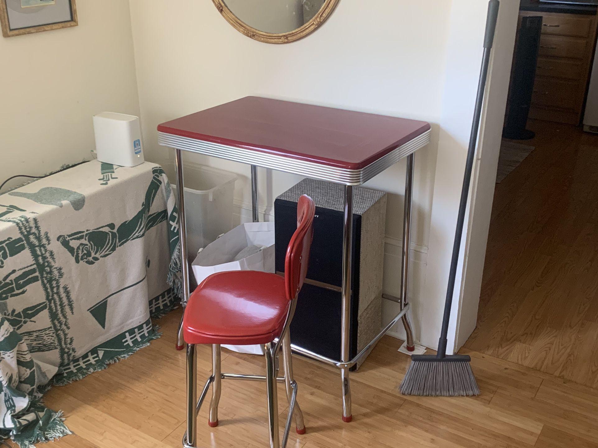 Retro-Style, Cherry Red, Bistro Dining Set