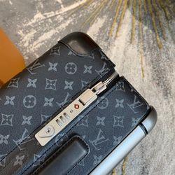 Louis Vuitton Horizon 50 55 Black Monogram Eclipse Canvas Rolling Luggage Travel Lock Code Bag Duffle M23002 M23209    Thumbnail